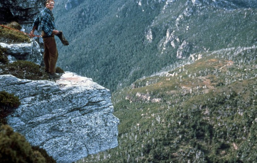 BASE Jump Frenchmans 13_Simon Relieved After Chris Got Away With It _April1989_By George Creecy