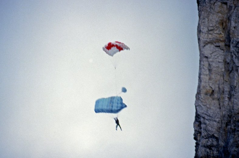 BASE Jump Frenchmans 6_Simon Under Reserve_July1988 by Chris Sharples