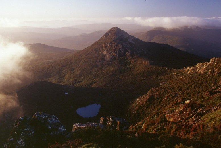 View to Mt Snowy from Hartz Peak - by Angus Munro
