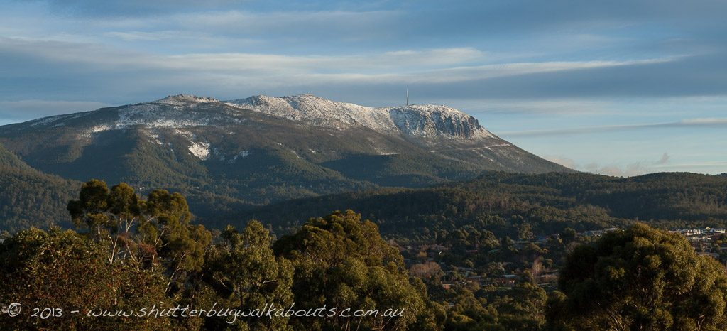 Snow covered Mt Wellington-View from Kingston- by Shutterbug Walkabouts