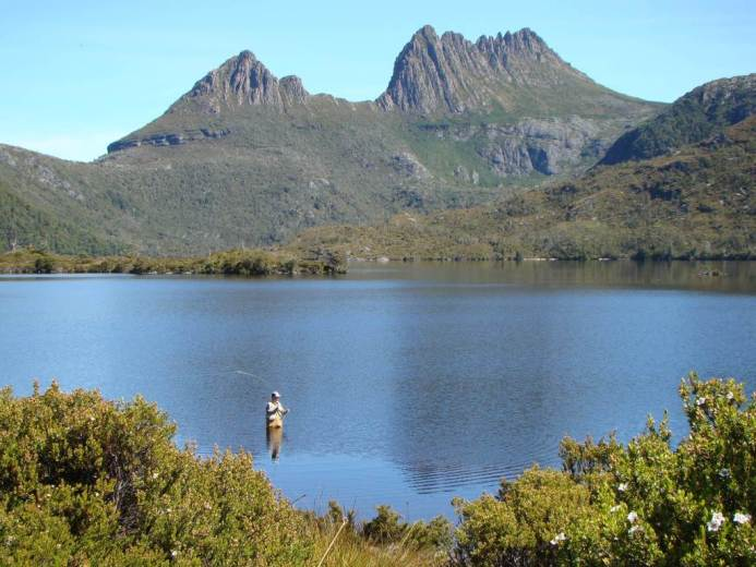 Cradle Mountain with Dove Lake - by Warwick Sprawson