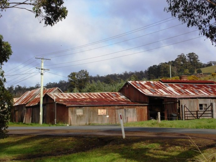 Old apple packing sheds Port Cygnet- Huon Valley Apples - Images Via Beth Hall