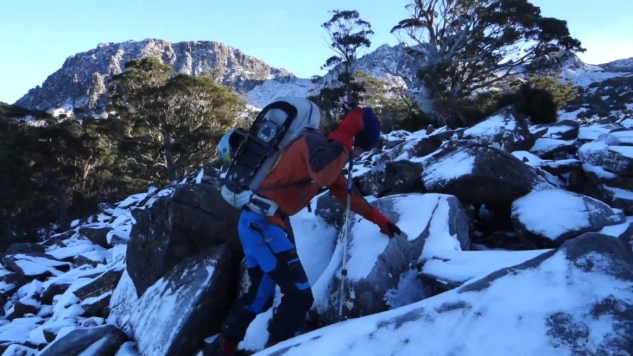 Ice Climbing Tasmania - by Wild Oates Productions with Kim Ladiges - 021