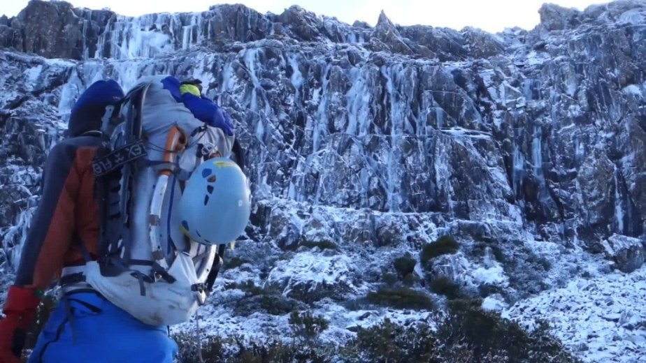 Ice Climbing Tasmania - by Wild Oates Productions with Kim Ladiges - 027
