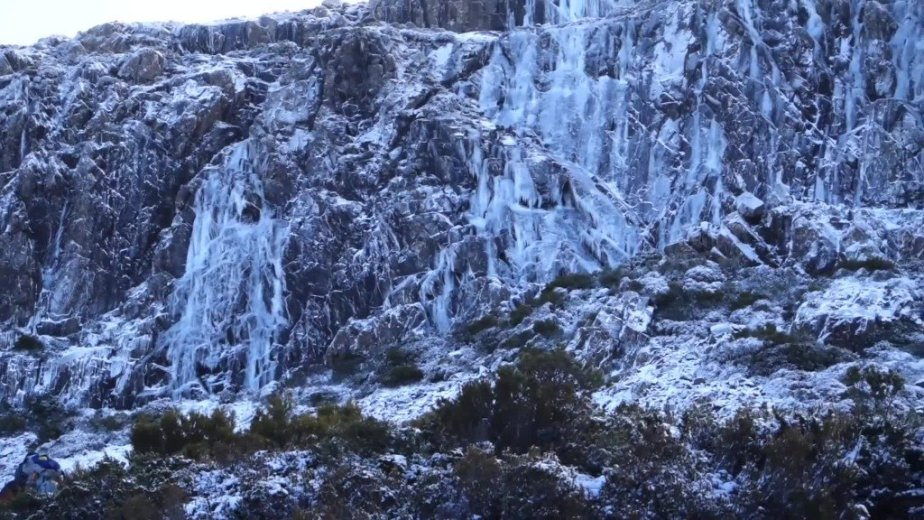 Ice Climbing Tasmania - by Wild Oates Productions with Kim Ladiges - 028