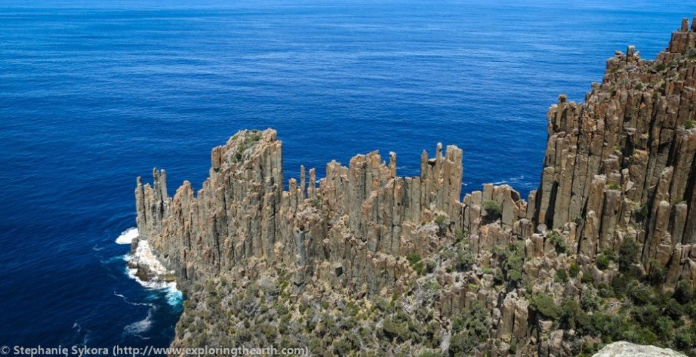 Columnar jointing At Cape Raoul - by Stephanie Skyora