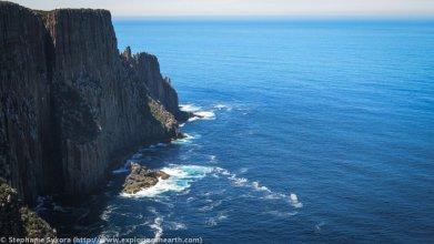 Dolerite pillars of Cape Raoul - by Stephanie Skyora
