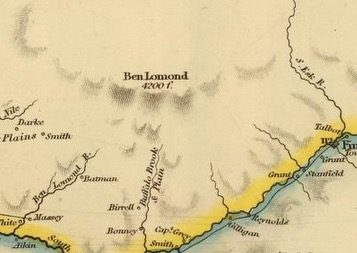 Detail from Van Diemens Land 1834 by J Arrowsmith - courtesy David Rumsey Map Collection - 017