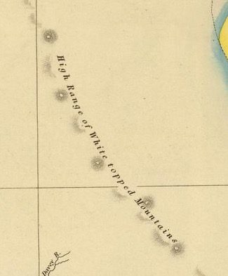 Detail from Van Diemens Land 1834 by J Arrowsmith - courtesy David Rumsey Map Collection - 019
