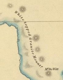 Detail from Van Diemens Land 1834 by J Arrowsmith - courtesy David Rumsey Map Collection - 023