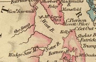 Detail from Van Diemens Land 1834 by J Arrowsmith - courtesy David Rumsey Map Collection - 033