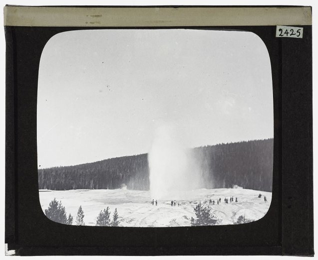 Beehive Geyser, Yellowstone--2425-1- by Tempest Anderson