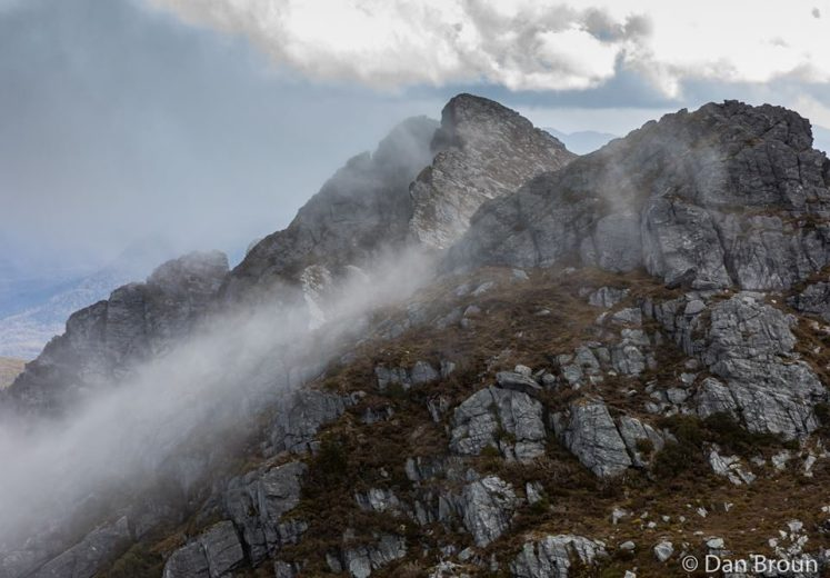 Clouds roll in over Federation Peak- by Dan Broun