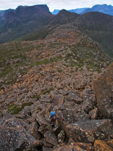 Leading the climb up Falling Mountain- by Becca Lunnon_Rock Monkey Adventures