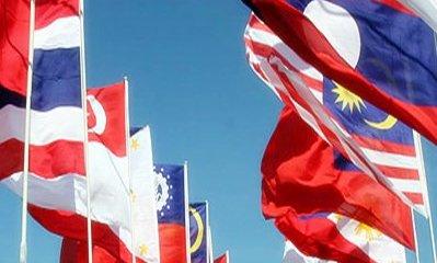 Asean summit flags