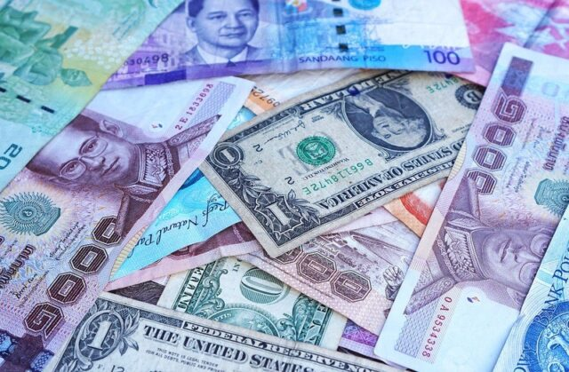 The Thai baht was largely flat against the dollar