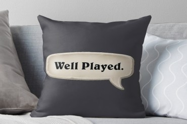 Hearthstone 'Well Played' Pillow
