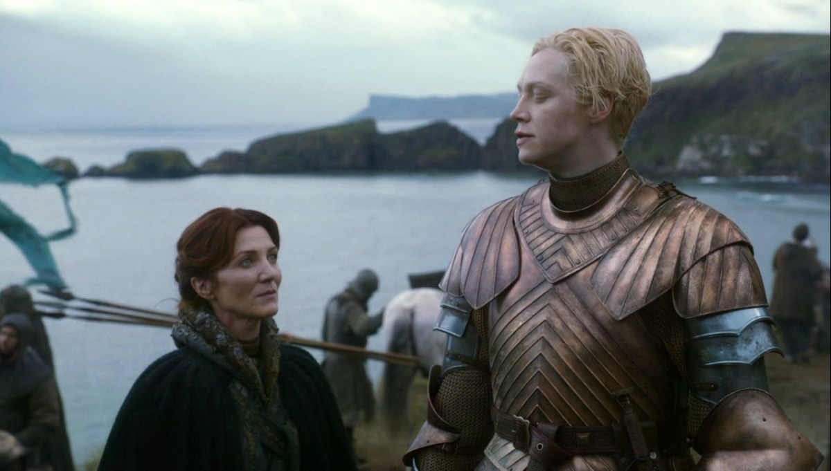 brienne of tarth with catelyn stark