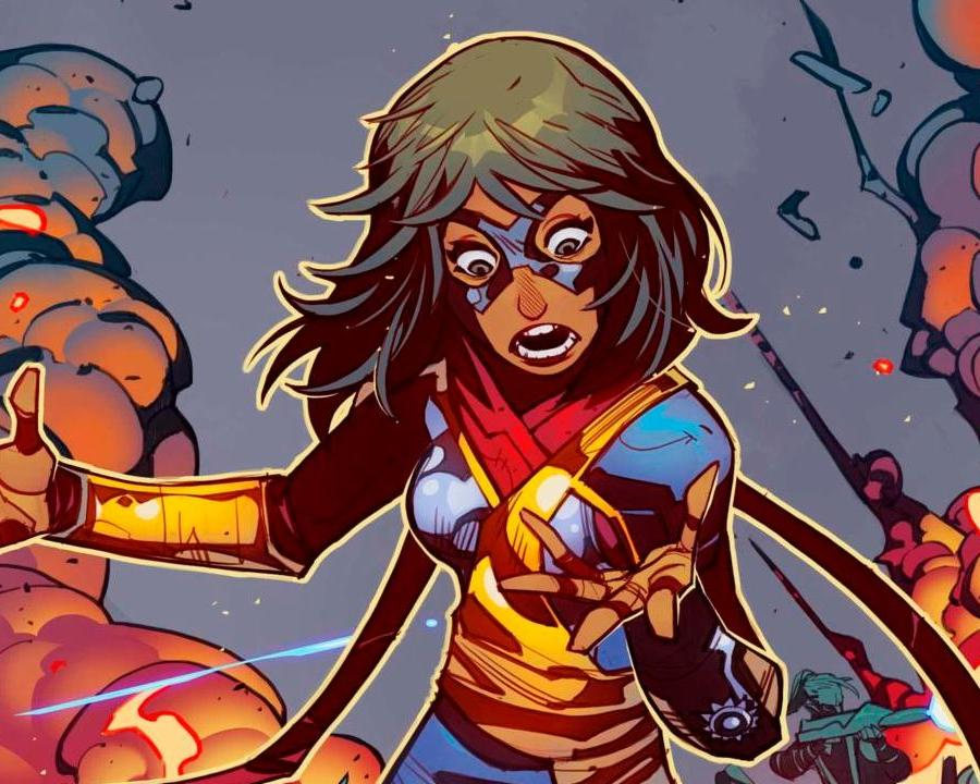 Kamala's new suit of the cover of The Magnificent Ms. Marvel #5.