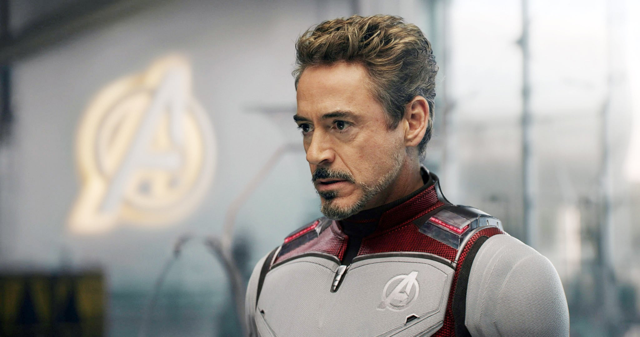Tony Stark, about to time travel in Endgame.