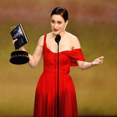 Rachel Brosnahan wins an Emmy.