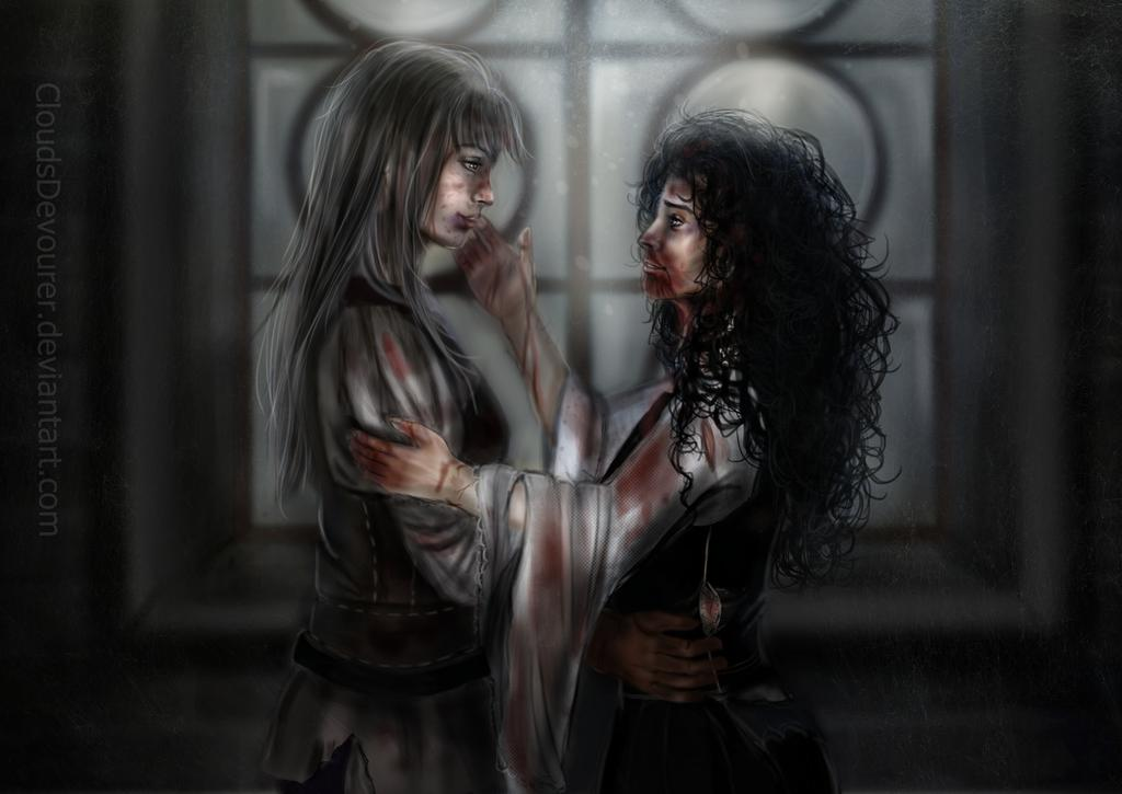 Ciri and Yennefer reunite