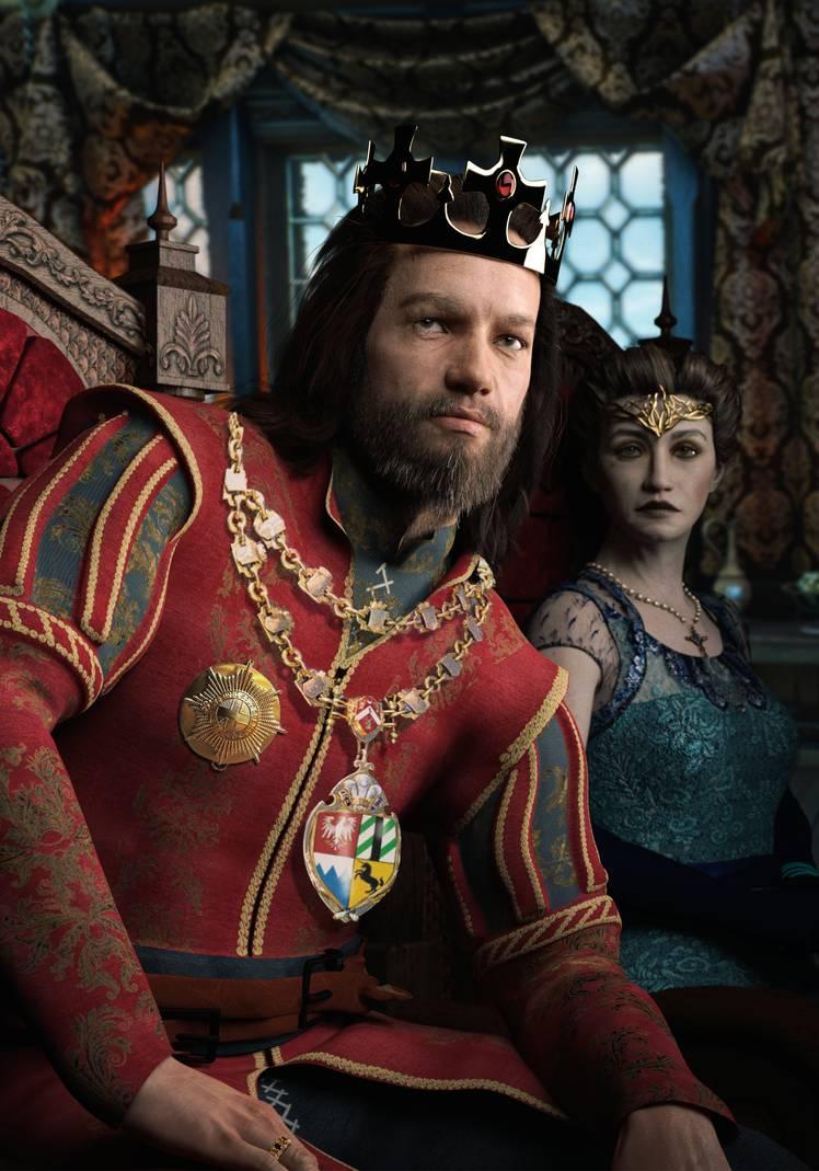 King Esterad Thyssen and Queen Zuleyka of Kovir