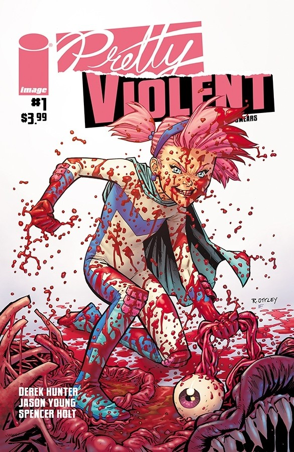 The variant cover of Pretty Violent #1.