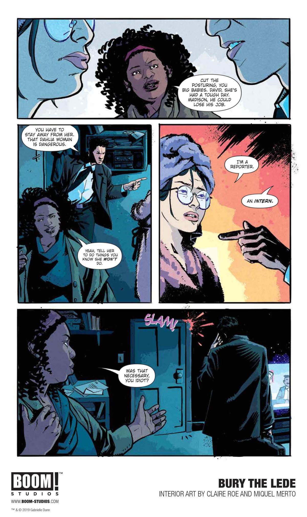 BURY THE LEDE, Page 9, BOOM! Studios 2019.