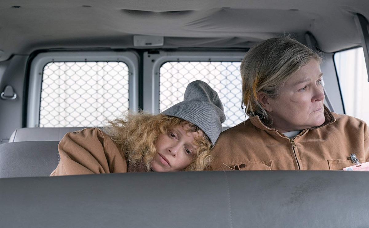 Nicky Nichols and Red in a transport van -- Orange Is The New Black