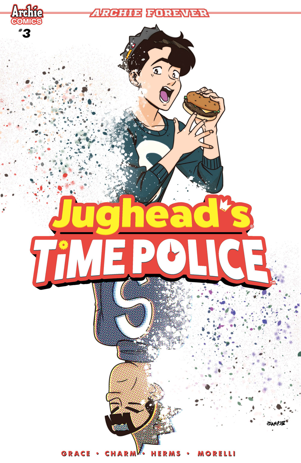 Variant cover for Jughead's Time Police #3.