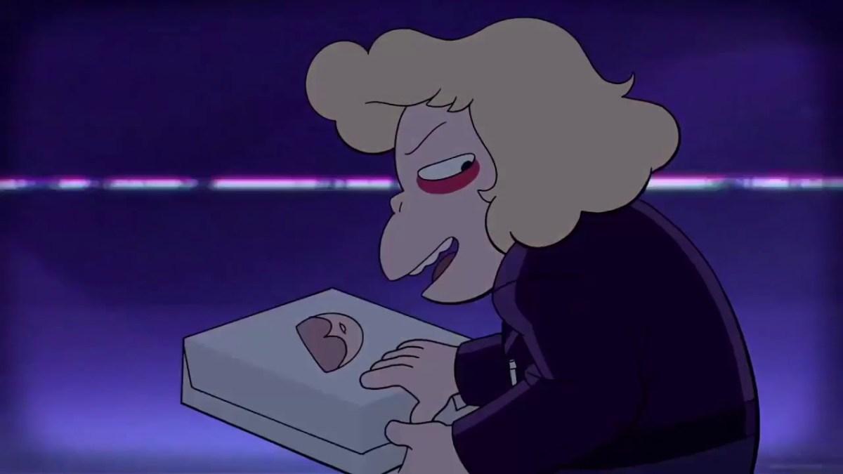 Steven Universe, Episode Sadie Killer, Sadie opening a Big Donut box.