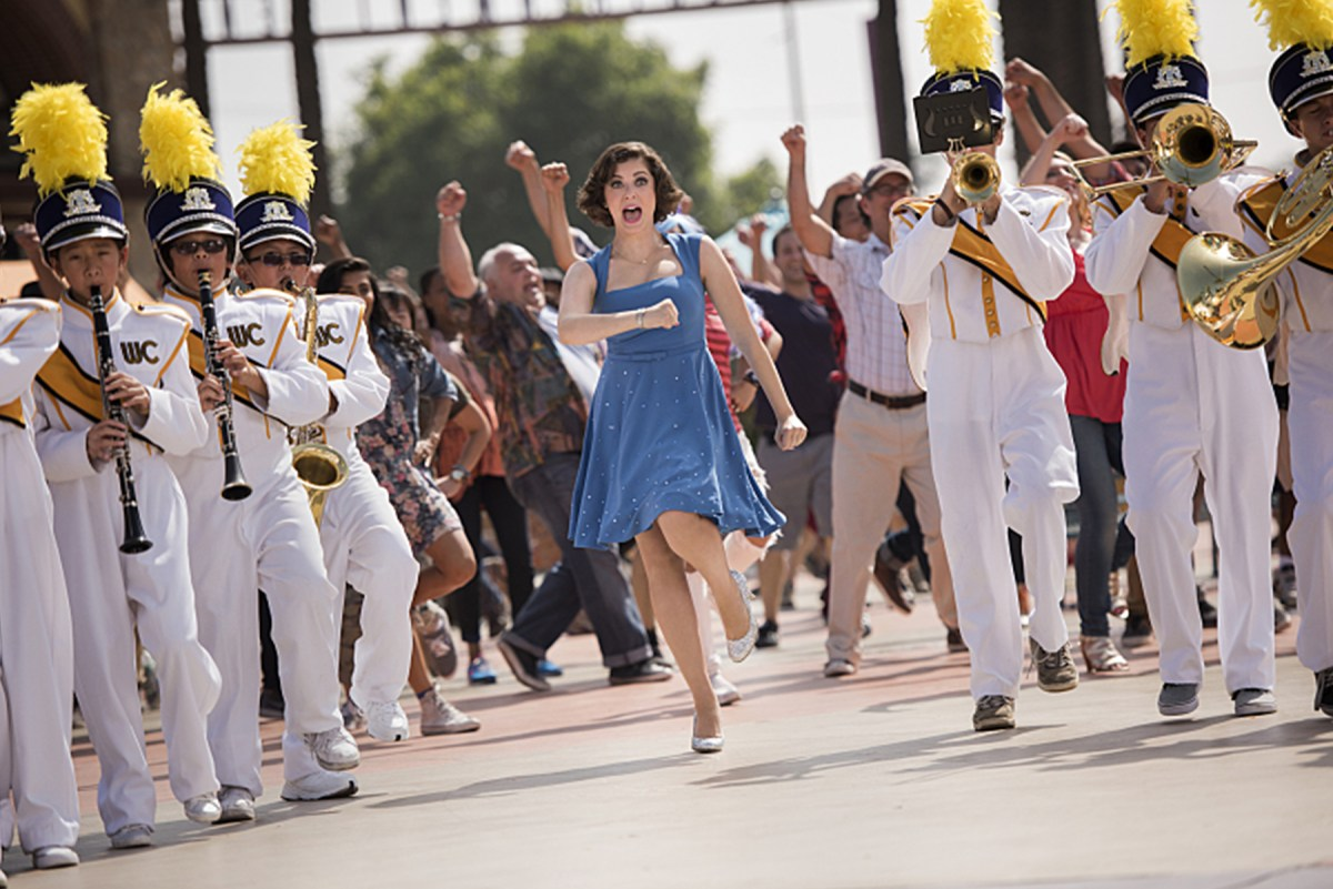 Rebecca Bunch celebrates her move to West Covina musically in the pilot episode of Crazy Ex-Girlfriend