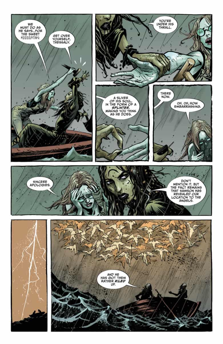Lucifer #12: Page #4, Sycorax and Thessaly talk with Samson.