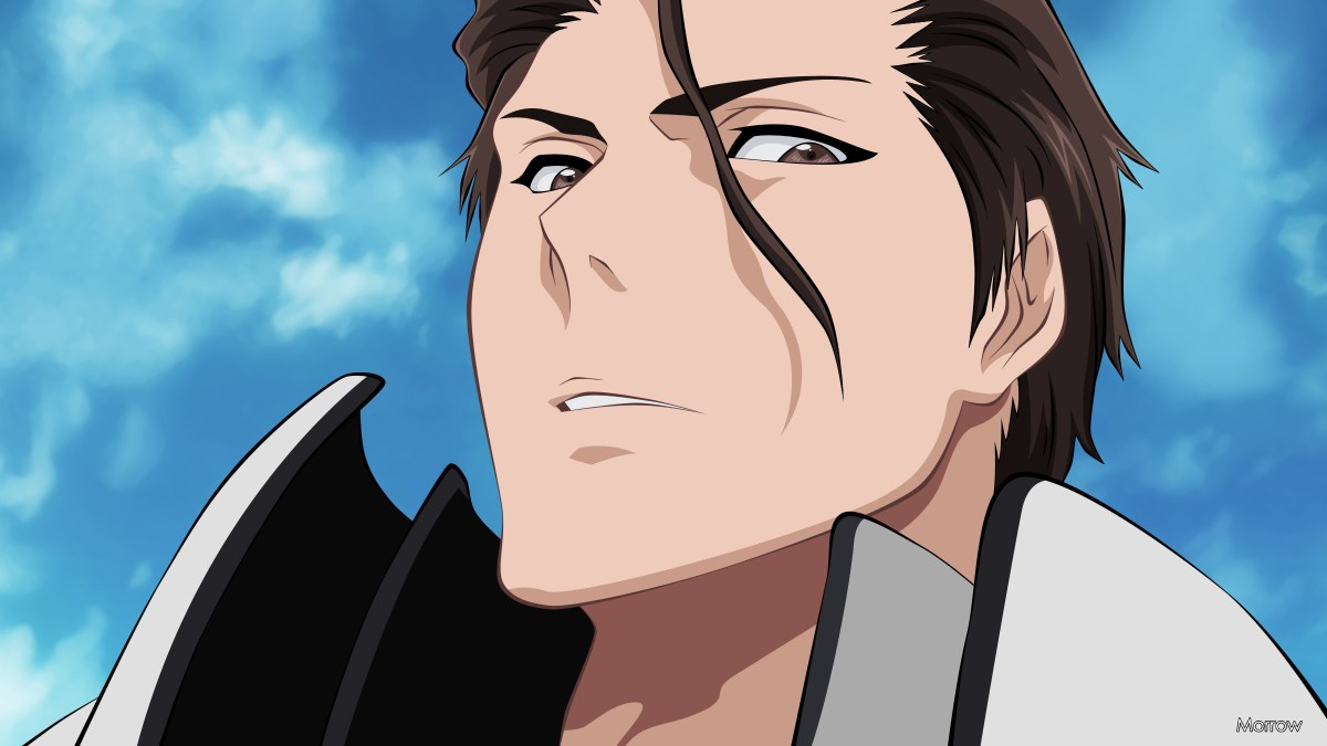 Aizen looking down.