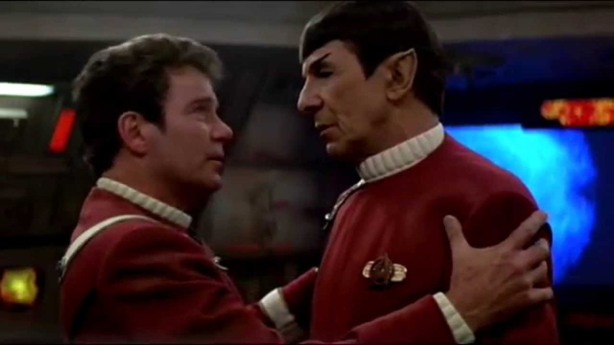 Jim Kirk almost gives Spock a hug