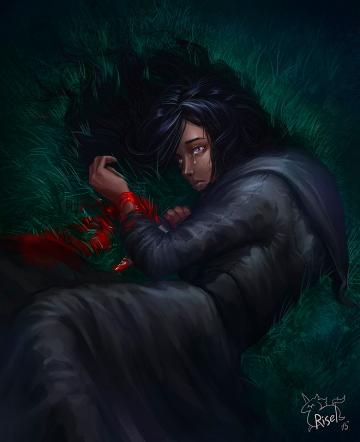 A young Yennefer attempts to commit suicide