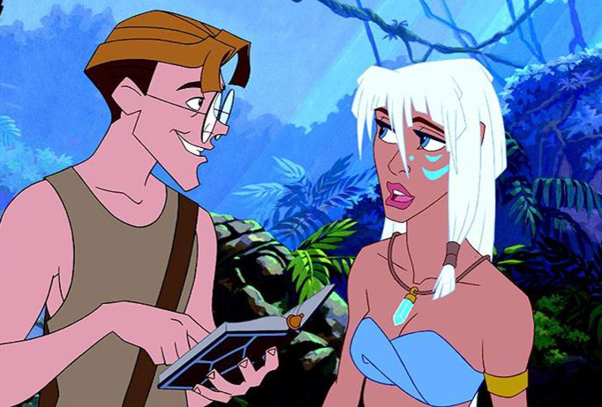 """Milo and Kida from the millennials underrated film """"Atlantis: the Lost Empire."""""""
