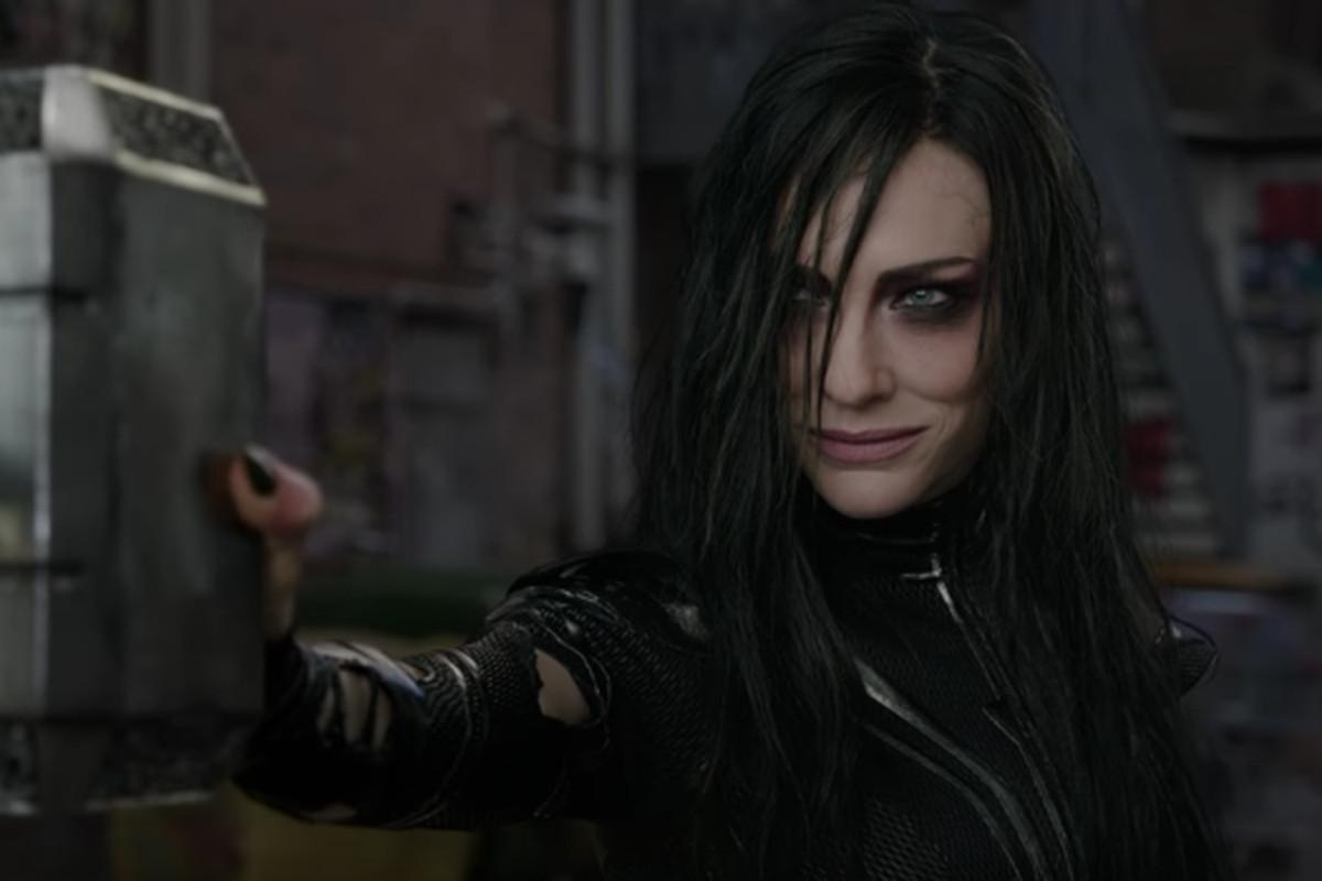 Hela, goddess of the underworld in Thor: Ragnarok.