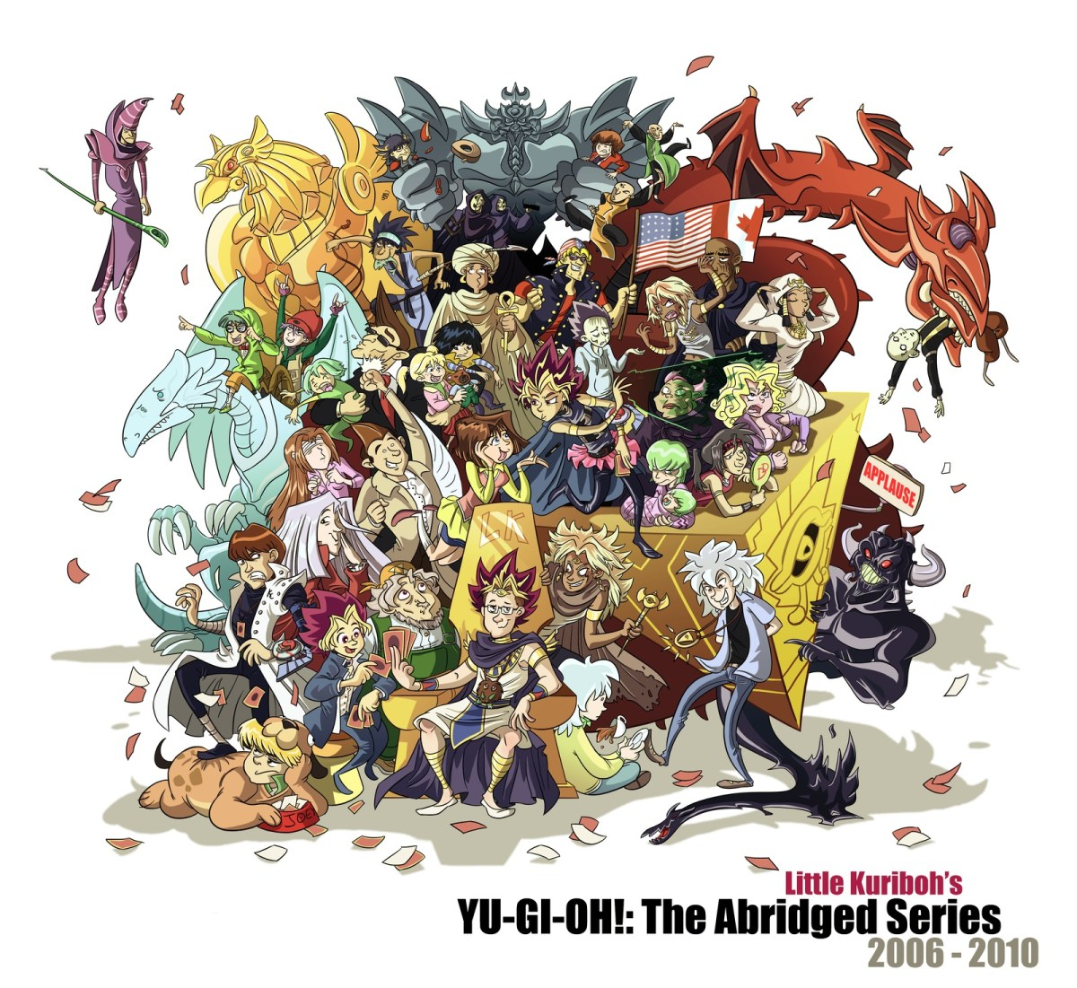 "Abridged: Cover-art for Martin Billany's fan-series ""Yu-Gi-Oh! The Abridged Series."""