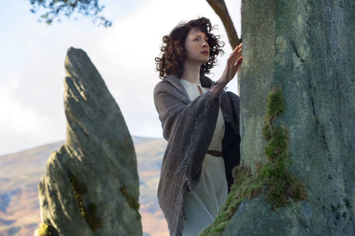 Claire Beauchamp at Craigh na Dun.