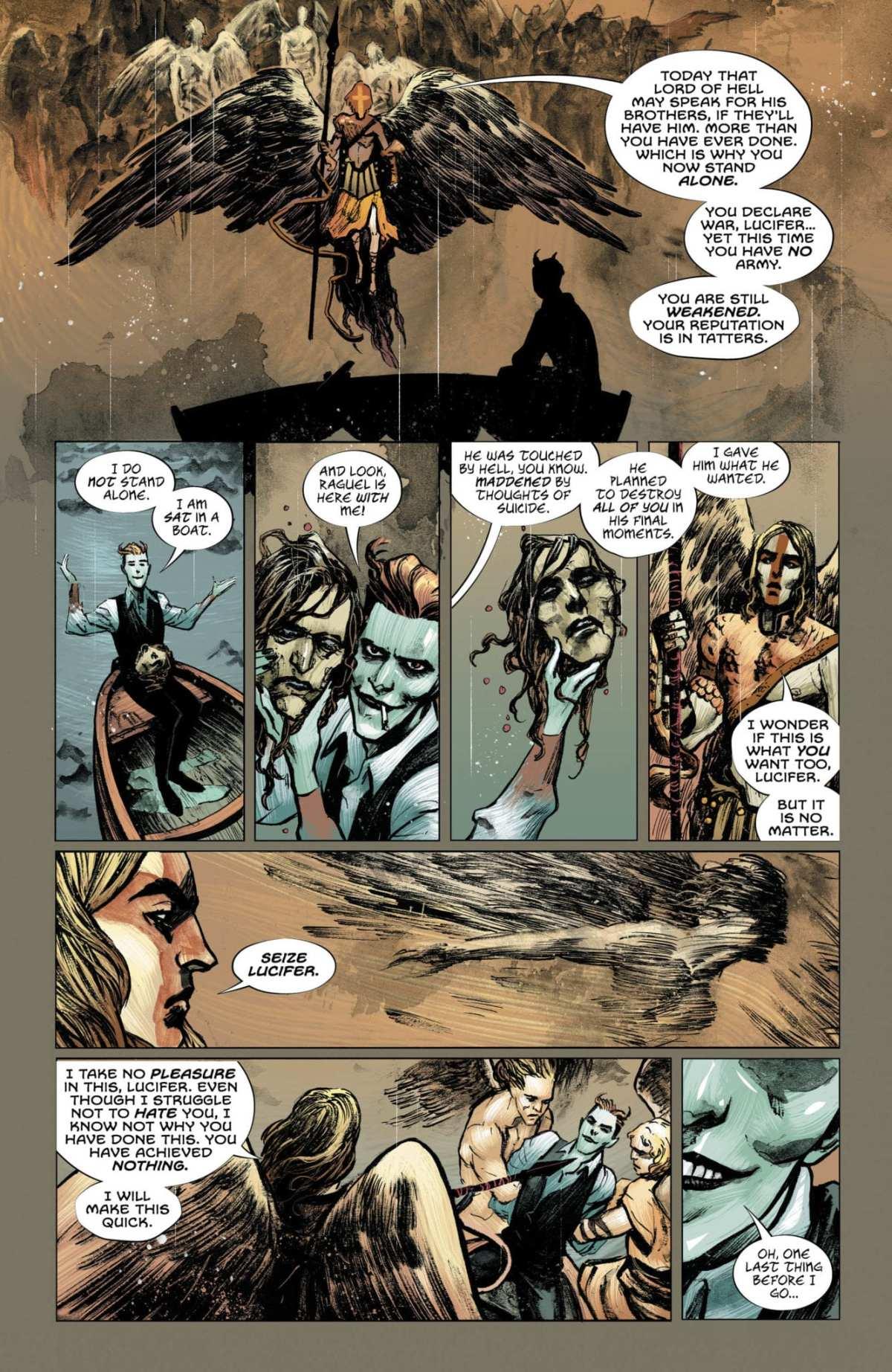 Lucifer #13, Page #6: Lucifer speaks to Ramiel