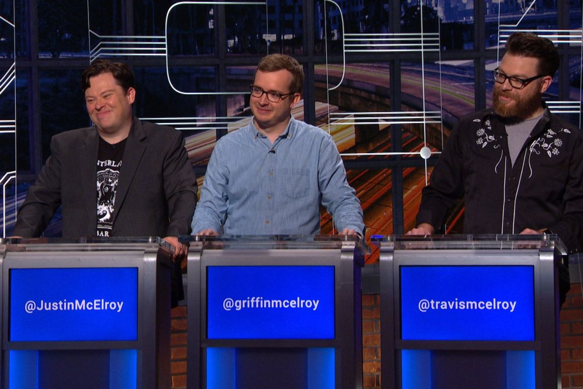 The McElroy Brothers on a gameshow.