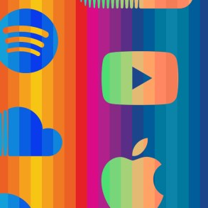 Music Streaming Services in colors.