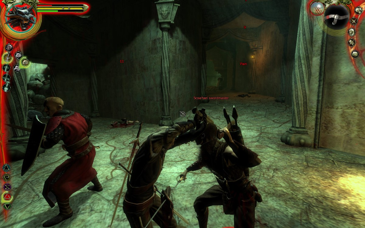 Geralt fights the Scoia'tael