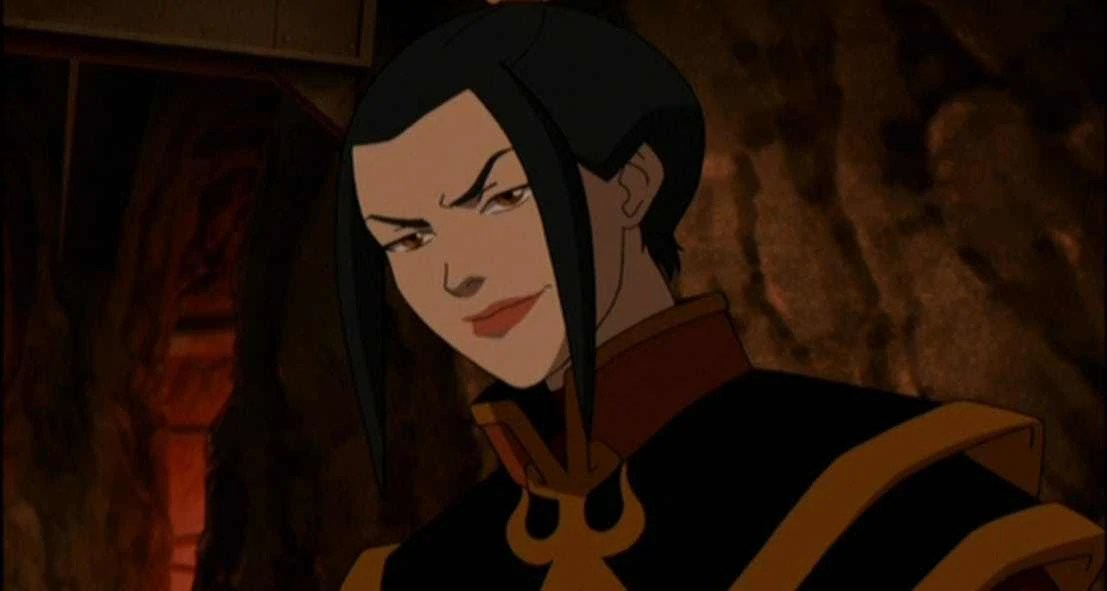 Princess Azula looking evil and threatening.