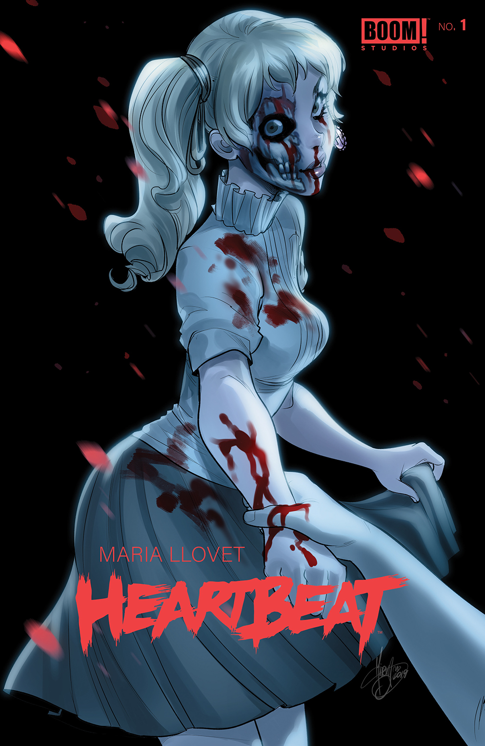 Alternate cover of Heartbeat #1.
