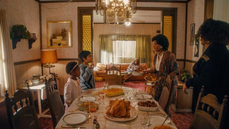 Master of None Thanksgiving special scene with Dev and Denise as kids