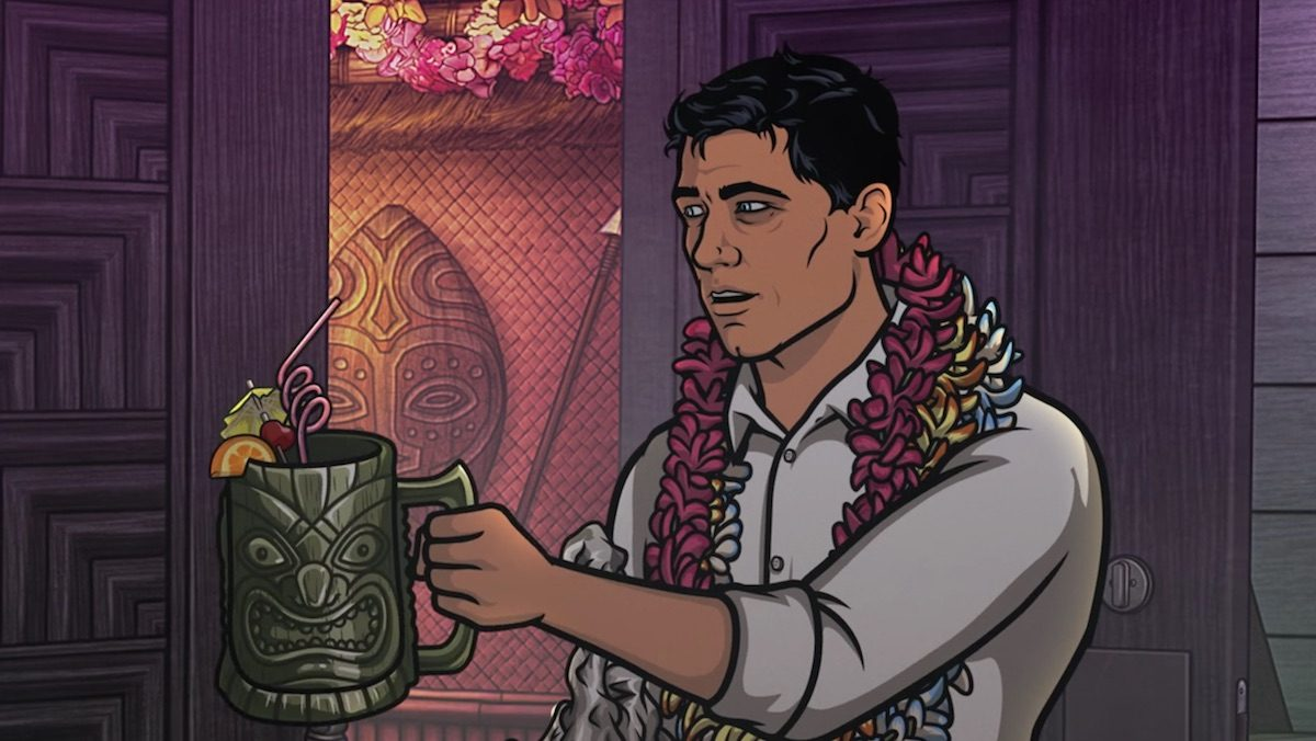 Archer drinking, of course, but his life isn't a drinking game.