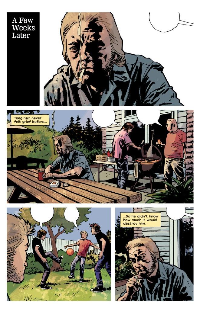 Teeg broods over the death of Jane, Criminal #12.